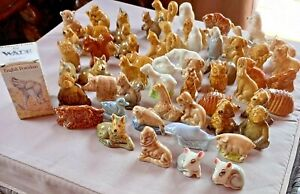 WADE WHIMSIES MINI ANIMAL FIGURINES –VARIOUS YEARS / WHIMSIE COLLECTIBLE FIGURES