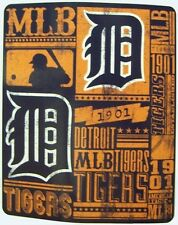 Blanket Fleece Throw Mlb Detroit Tigers New 50�x60� with protective sleeve