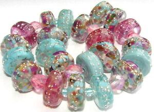 "Sistersbeads ""C-Moon Walk"" Handmade Lampwork Beads"