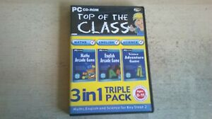 TOP OF THE CLASS 3in1 TRIPLE PACK SATS KEY STAGE 2 MATHS ENGLISH SCIENCE PC GAME