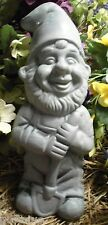 "Latex only standing gnome with shovel  concrete plaster garden mold 9""H x 4""W"