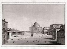 ROMA:Vaticano:BASILICA DI SAN PIETRO.Stato Pontificio.ACCIAIO.Stampa Antica.1838