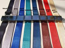 Classic Vintage Car Vehicle Seat Lap Safety Belt, Chrome, Coloured Webbing