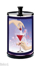 Marvy No.6 Martini Glass Manicure Disinfectant Sanitizer Jar w/strainer  >