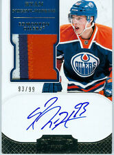 2011-12 11-12 DOMINION # 188 RYAN NUGENT-HOPKINS RC AUTO 3 COLOR, JERSEY # 93/99
