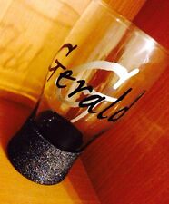 Personalised Glitter Pint Glass, Ideal For Christmas, Birthday, Anniversary,