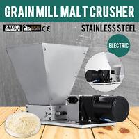 Electric Grain Mill Barley Grinder Malt Crusher 110V 2 Rollers Dy-368 PRO