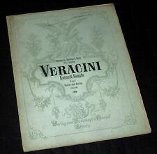 concerto-sonate Mi min. partition pour violon et piano 1910 Veracini