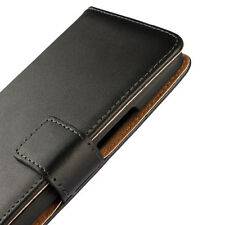 For HTC One X9 Black Genuine Real Leather Business Wallet Case Cover Stand