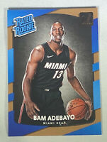 2017-18 Bam Adebayo RC Donruss Rated Rookie Base #187 Miami Heat Rookie Card