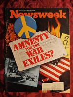 NEWSWEEK magazine January 17 1972 VIETNAM WAR AMNESTY?