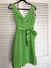 New J Crew Size 2 Serena  Dress Clover Green Sash Included $198