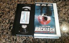 BACKLASH RARE VHS TAPE! HOMICIDAL THRILLER! 1998 JAMES BELUSHI, CHARLES DURNING!