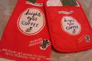 Kate Spade New York    All In Good Taste *bright eye COFFEE  *2 piece set *  NEW