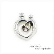 10pcs heart Floating charms For Glass living memory Locket FC1564 free shipping