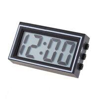 Mini Digital LCD Auto Car Truck Dashboard Date Time Calendar Clock Black SS