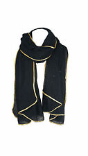 Women's Glitter Sparkle Star Dust with GOLD PIPING Scarf Wrap Pashmina Style
