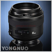 Yongnuo EF 85MM F1.8 AF/MF Standard Medium Prime Fixed for Canon 80D 70D 60D 50D