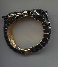 KENNETH LANE BLACK ENAMEL double horse bracelet