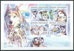 Zentralafrika - Schlittenhunde Kleinbogen postfrisch 2001 Mi.Nr. 2666-2669 B