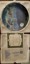 Starlight Serenade Collectible Plate By Cynthie Fisher wolf howl moon