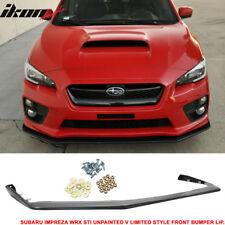 Fits 15-18 Subaru WRX STI Front Bumper Lip Spoiler V-Limited JDM OE Style PP