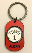 """UNIVERSAIL STUDIOS Dr Suess """"ALEXIS"""" THING 1 & THING 2 Spinner Key Chain New"""