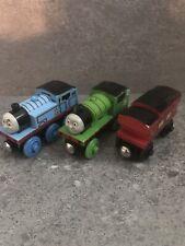 Thomas & Friends Wooden Tank Train TALKING THOMAS & PERCY MUSICAL CABOOSE Lot