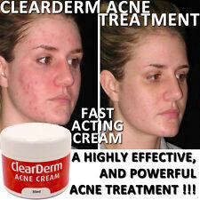 Clearderm Acne Crema Loción Alta Resistencia ingredientes naturales de piel clara.