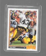 1991 Upper Deck - NICK BELL - Hand Signed Autograph Card - IOWA HAWKEYES