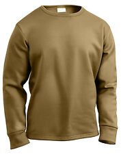 US Army AR 670-1 Underwear Winter Shirt Crew Neck Coyote Brown ECWCS Rothco 3851