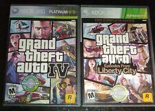 New listing Grand Theft Auto Iv (Gta 4) + Liberty City Episode Lot Bundle Xbox 360 Free Ship