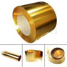 Brass Metal Thin Sheet Foil Plate Roll 0.02 x 100 x 1000mm Metalworking Supplies