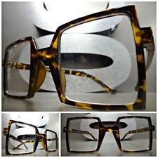 CLASSIC VINTAGE RETRO Style Clear Lens EYE GLASSES Square Tortoise Fashion Frame