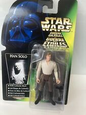 Star Wars The Power of the force Han Solo with Carbonite Block Kenner nouveau
