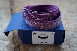 SWAROVSKI 5297361 Slake Duo Bracelet in Amethyst Duo Bracelet 100% AUTHENTIC