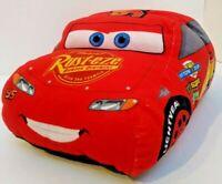 Disney Cars Flip A Zoo Plush Toy Car Red Rust-eze Dinoco Red Yellow Stuffed Race
