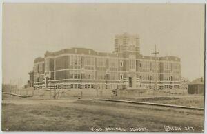 1910-20 era King Edward School Edmonton Alberta Canada Real Photo Postcard RPPC