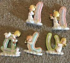 2002 Precious Moments Letter Figurine I-J-V preowned