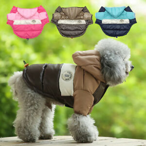 Small Dog Winter Coat Waterproof Pet Clothes Puppy Cat Jacket Hoodie Beagle Pug