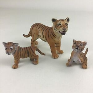 Schleich Tiger and Cubs PVC Wild Animals Realistic Lifelike Figures 3pc Lot 2006