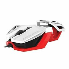 MAD CATZ RAT 1 WIRED OPTICAL PC GAMING MOUSE - WHITE & RED - NEW & SEALED