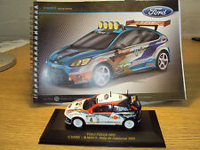 FORD FOCUS RS500 CAR DESIGN MASTERS SKETCHBOOK + 1:43 WRC FOCUS MODEL NEW BOXED