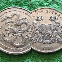 Sierra Leone Zodiac Coin Year of the Dragon 2000 $1 Br. PLUS FREE GIFT!