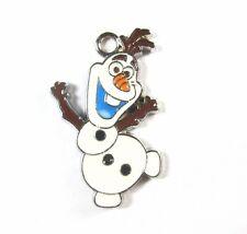 Lots 100 xFrozen Dance Olaf snowman Metal Charms Pendants DIY Jewellery Making D