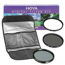 NEW HOYA Digital Filter Kit (HMC UV + CPL + ND8) 3 Filter Set with Pouch 49mm