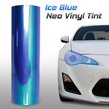 "12""x24"" Chameleon Neo Light Blue Headlight Fog Tail Light Vinyl Tint Film (m)"