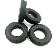 1/14 Tractor Truck Tires/Tyres (Hard / 22mm) 4 Pcs NIP For Tamiya Merc Actros