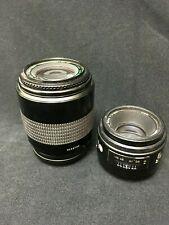 LOT OF 2, Quantaray MX AF 1:4 F=70-200 Lens, & Minolta Maxxum AF 50mm 1:1.7 Lens
