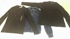 NWT GAP Long sleeve TEE T Shirt XS X Small Medium ( PICK 1 of choice) BLUE BLACK